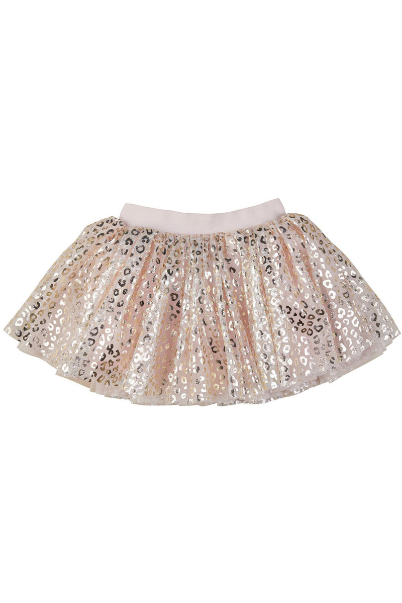 Gold Animal Tulle Skirt Rose