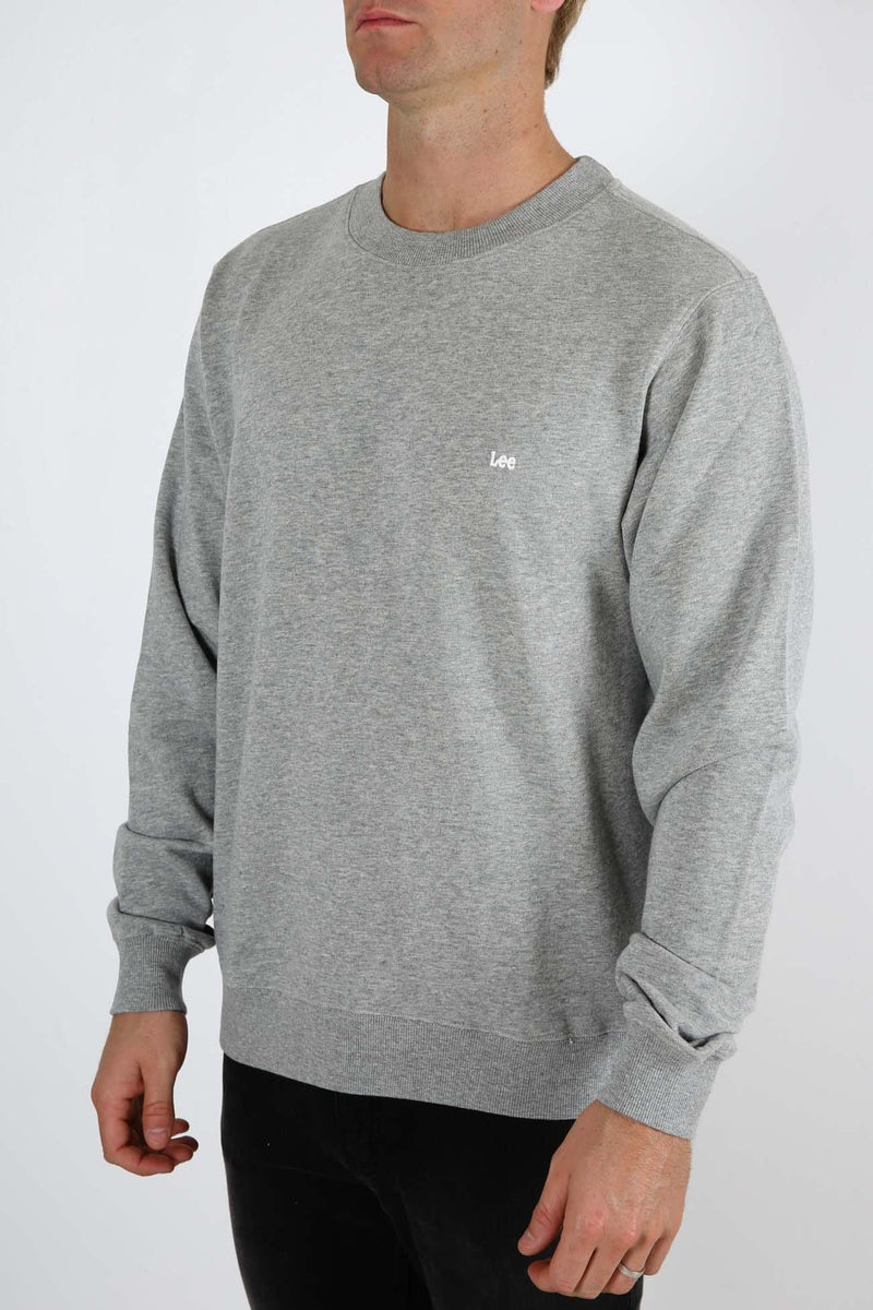 Zephyr Classic Crew Sweat Grey Marle Lee - Jean Jail