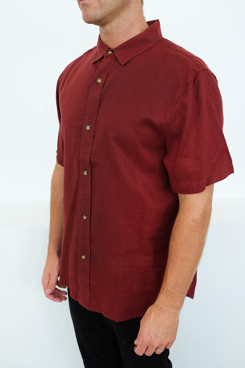 Zeppelin Hemp Short Sleeve Shirt Red Thrills - Jean Jail