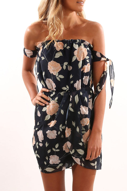 Easy Living Dress Navy Floral