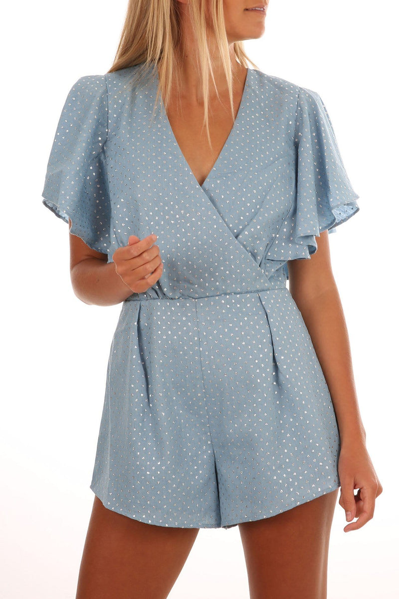 Kind Lover Playsuit Chambray Isla - Jean Jail