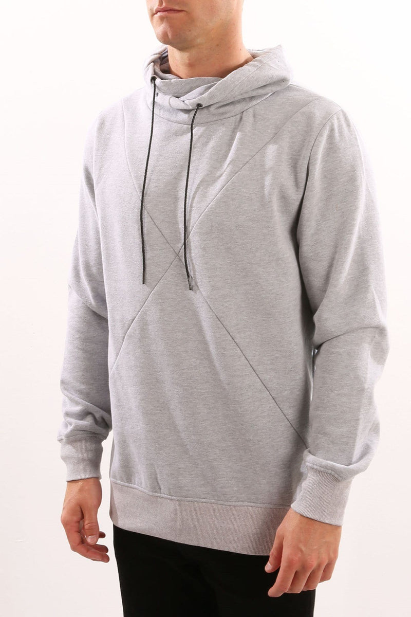 Pisa Crossed Jumper Grey Marle