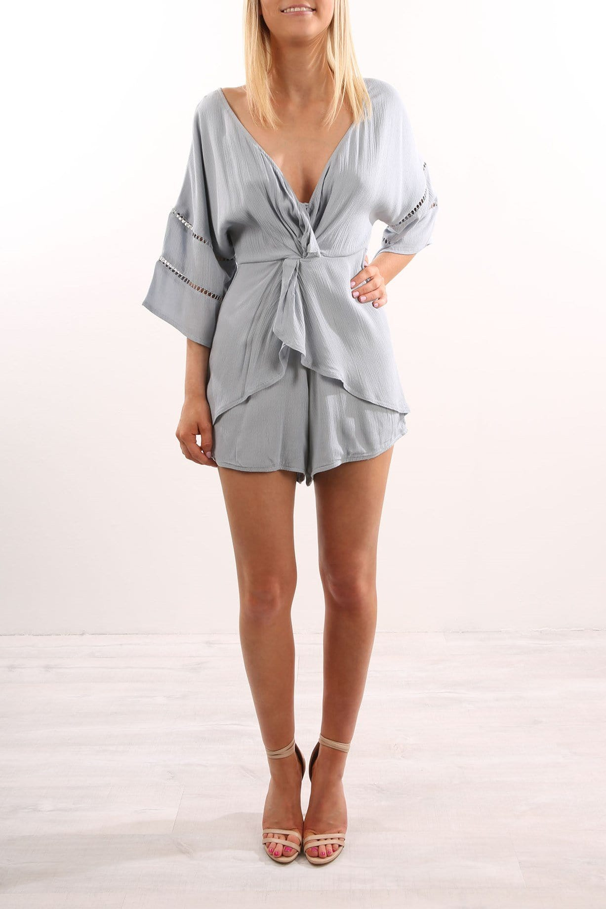 Cross My Heart Playsuit Blue
