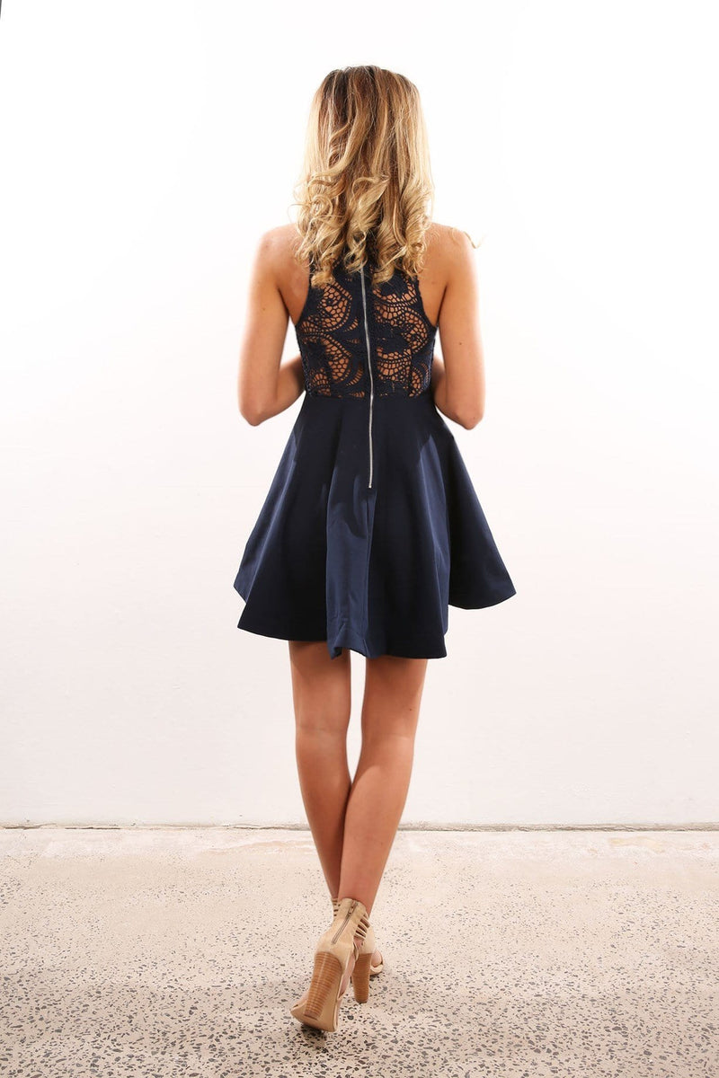 Carmina Dress Navy Jean Jail - Jean Jail