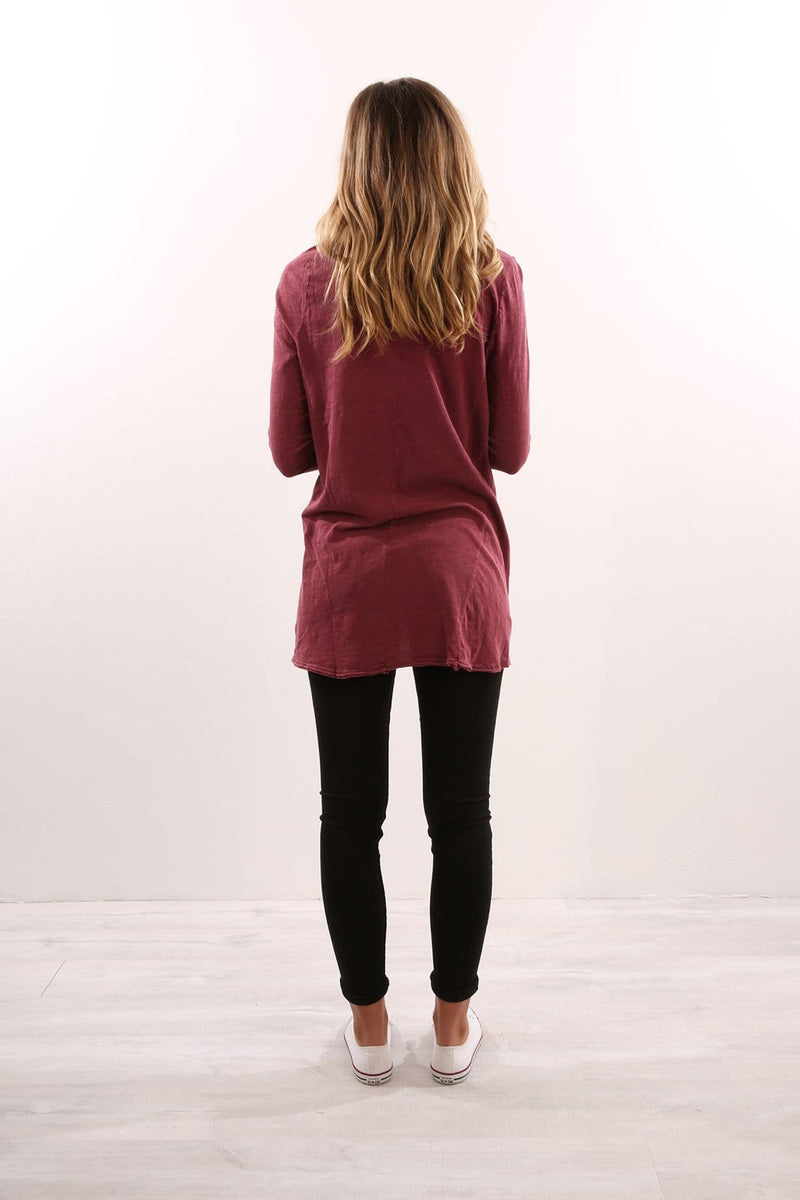 Insight Long Sleeve Top Burgundy Silent Theory - Jean Jail