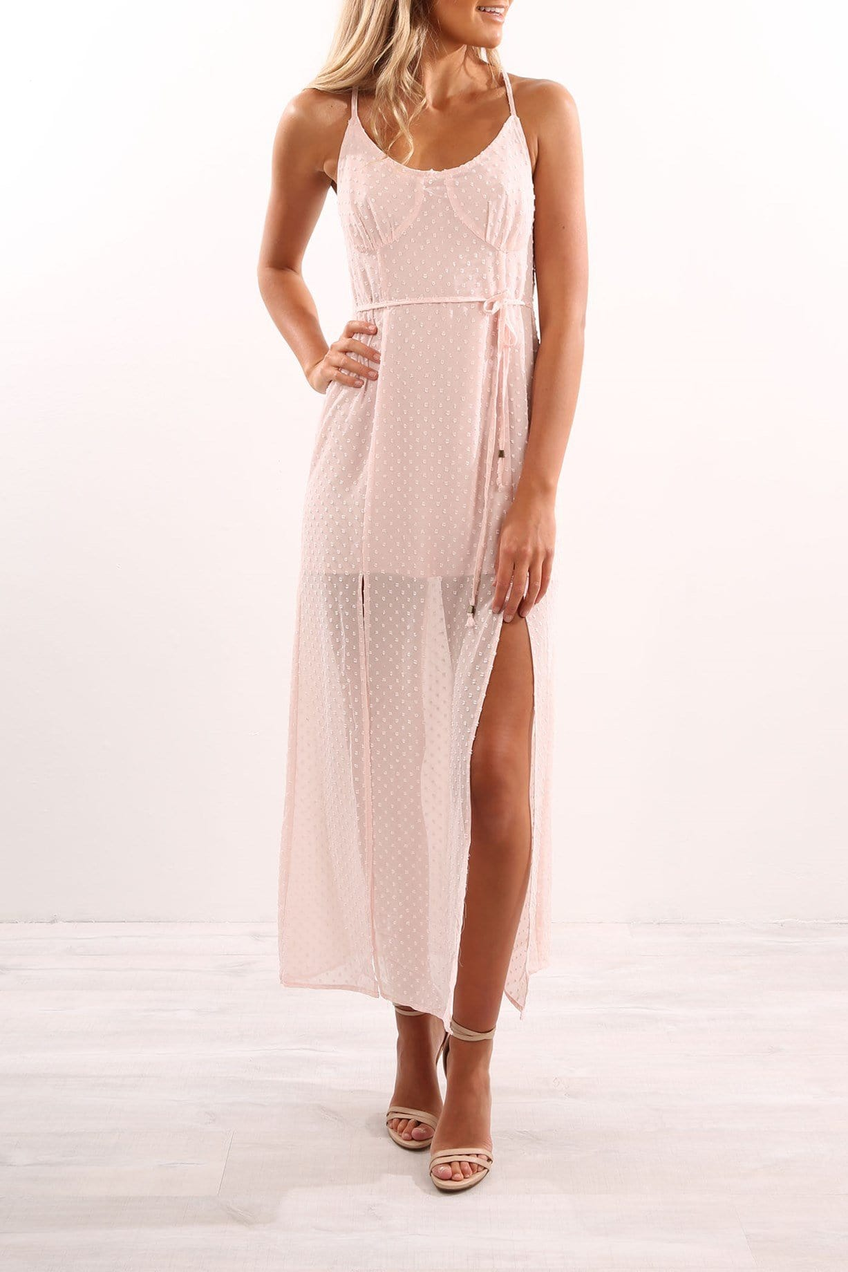 Babydoll Maxi Dress Pink