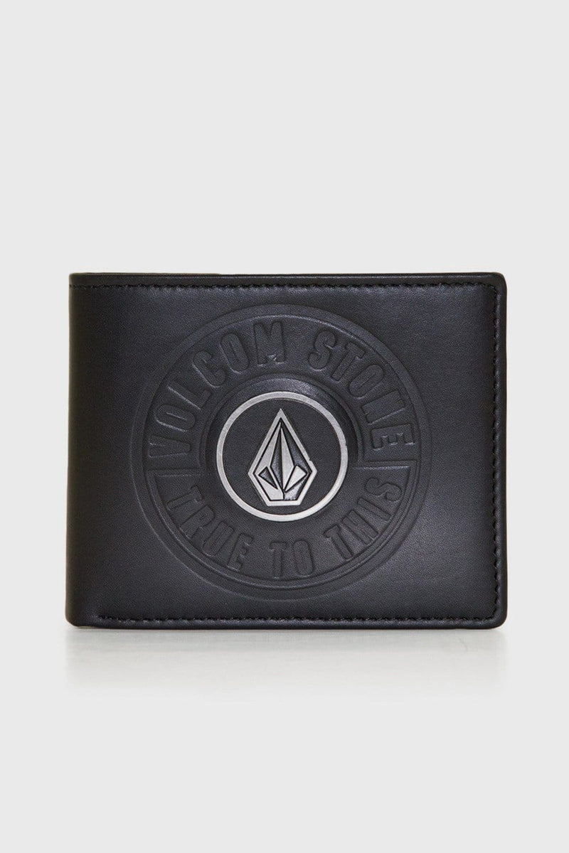 Shadow Leather Wallet Black Volcom - Jean Jail