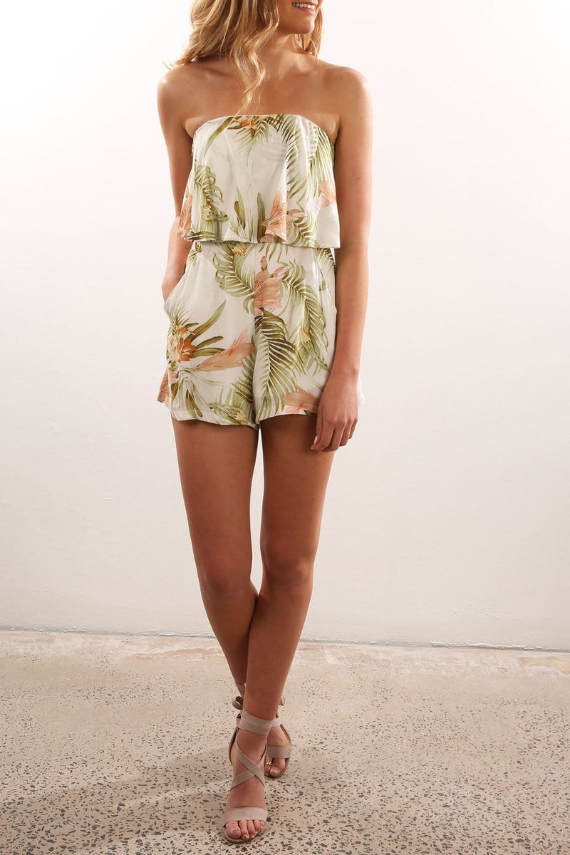 Mindle Playsuit Green Print