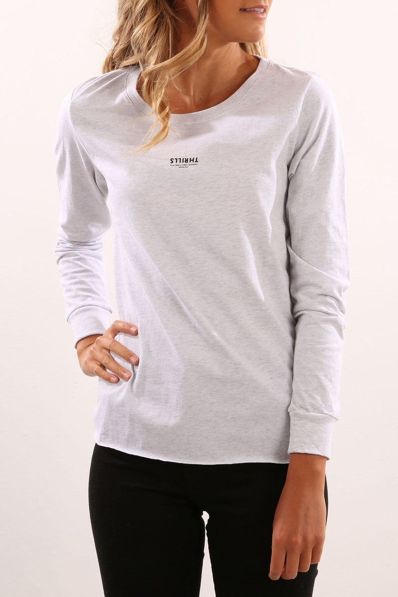 Location Long Sleeve Light Grey Marle Thrills - Jean Jail