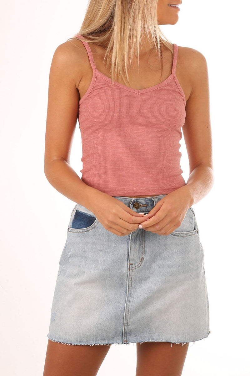 Poppy Crop Tank Rose All About Eve - Jean Jail