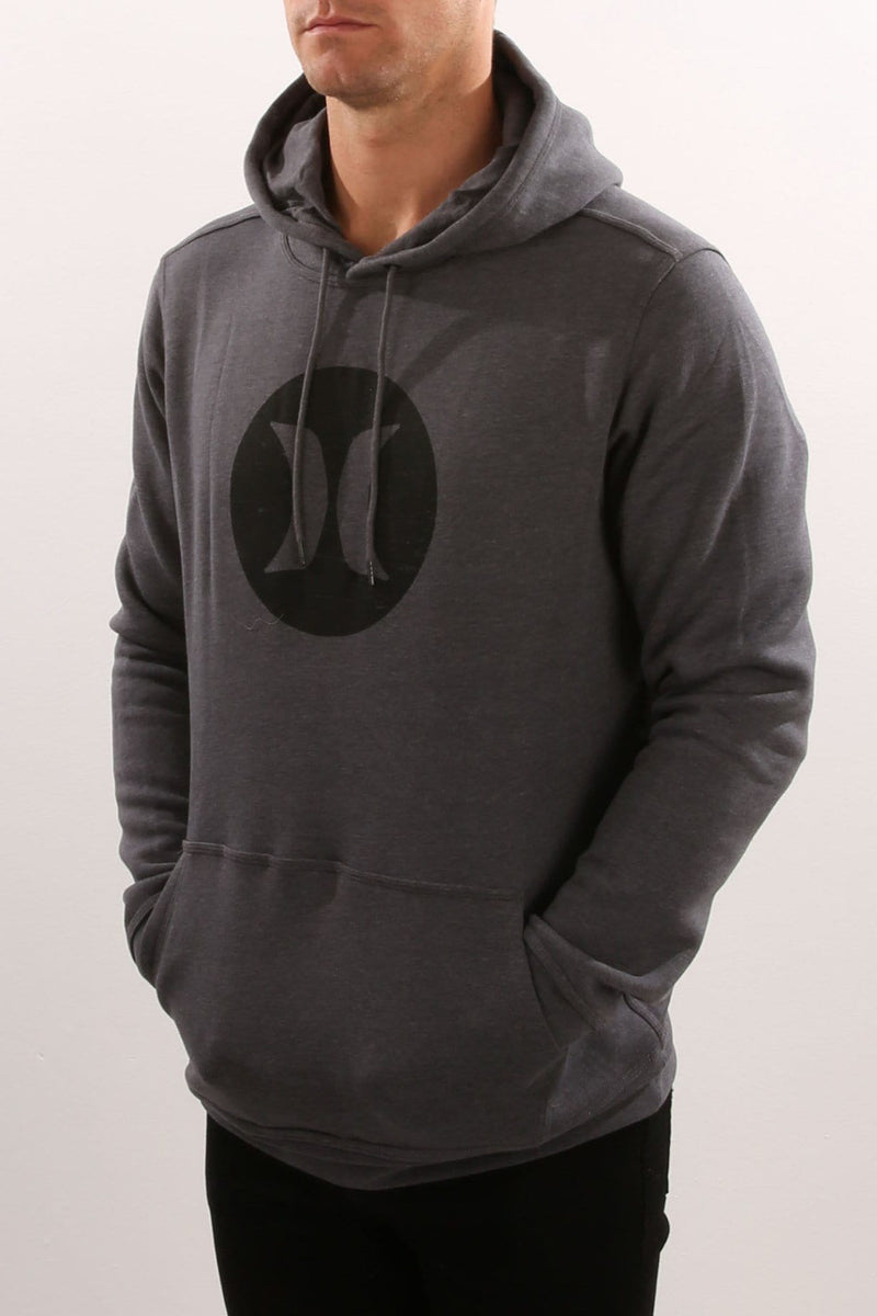 Icon Punch Fleece Heather Graphite Hurley - Jean Jail