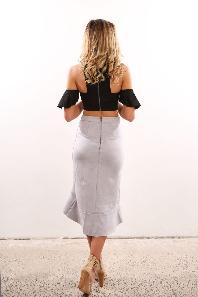 Drop The Game Skirt Silver Jean Jail - Jean Jail