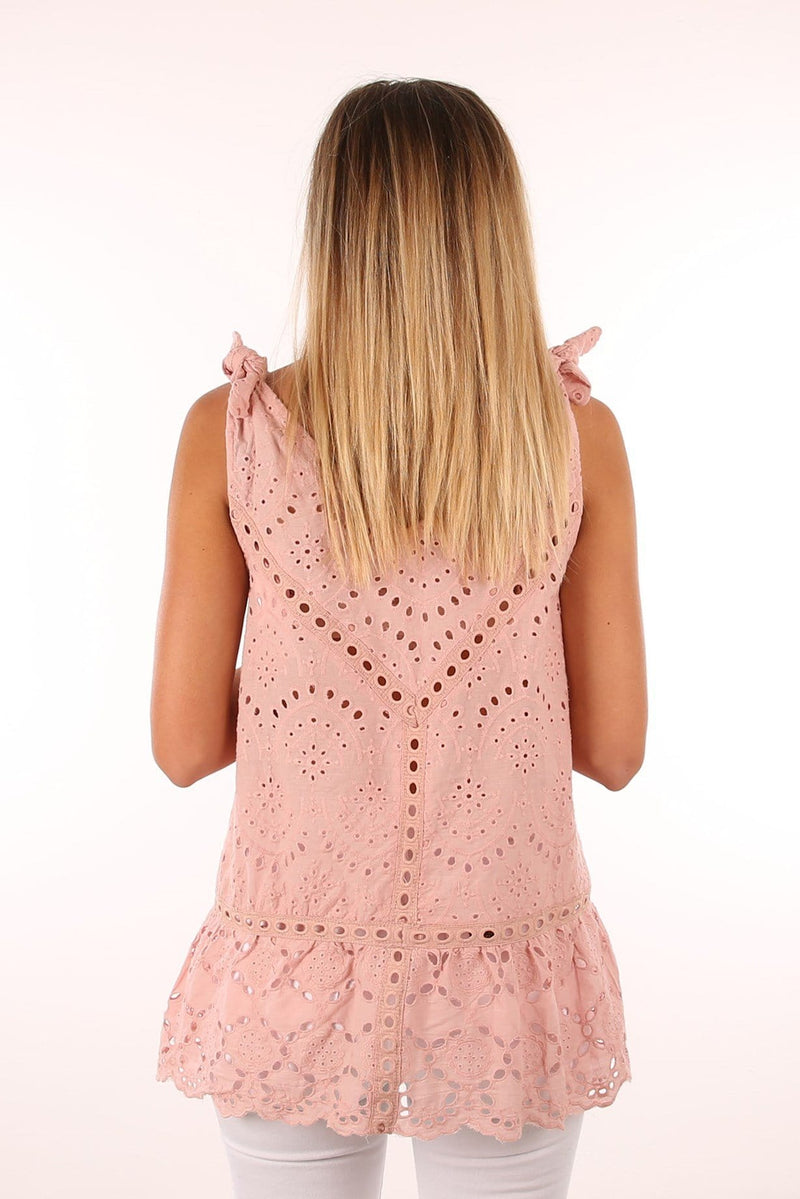 We Found Love Lace Top Pink Jean Jail - Jean Jail