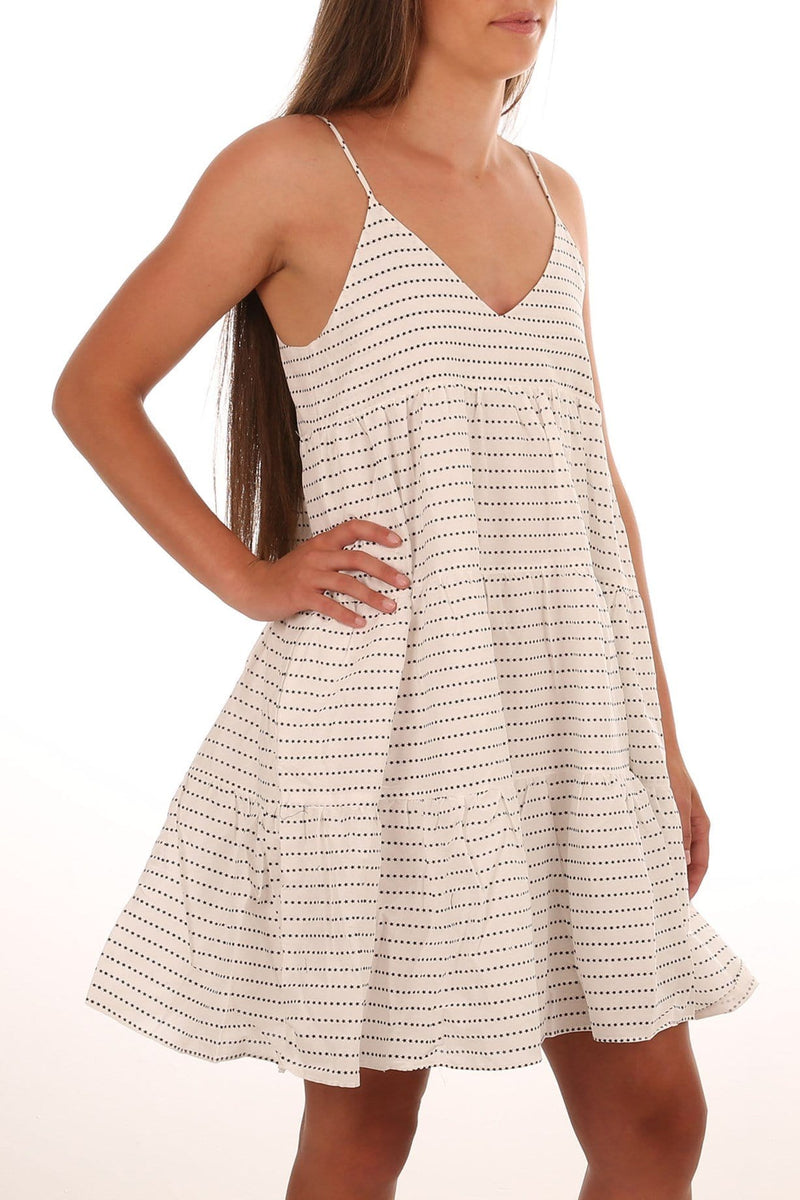 Iman Cotton Dress Ivory Black Star Imonni - Jean Jail