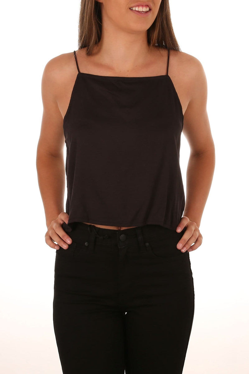 Josephine Crop Tank Black All About Eve - Jean Jail
