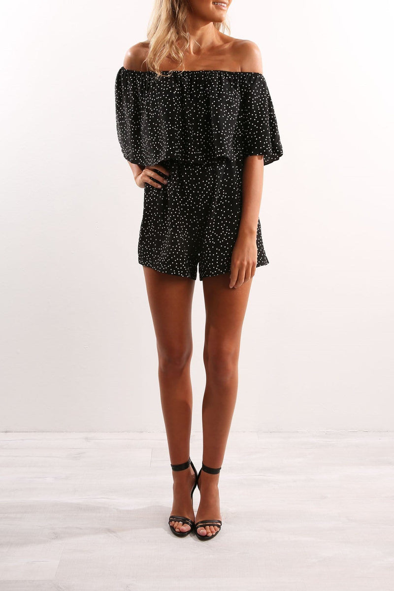 Sonja Playsuit Black