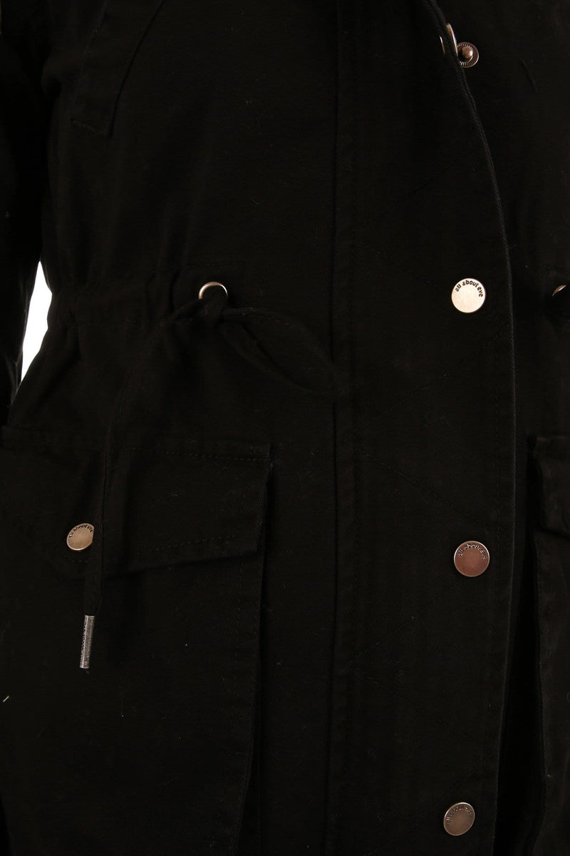 Eddy Parka Black All About Eve - Jean Jail