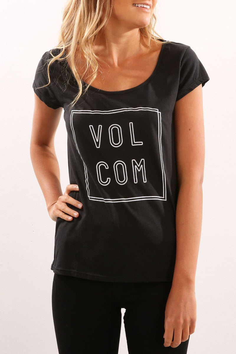 Lights Out Rad Tee Black Volcom - Jean Jail