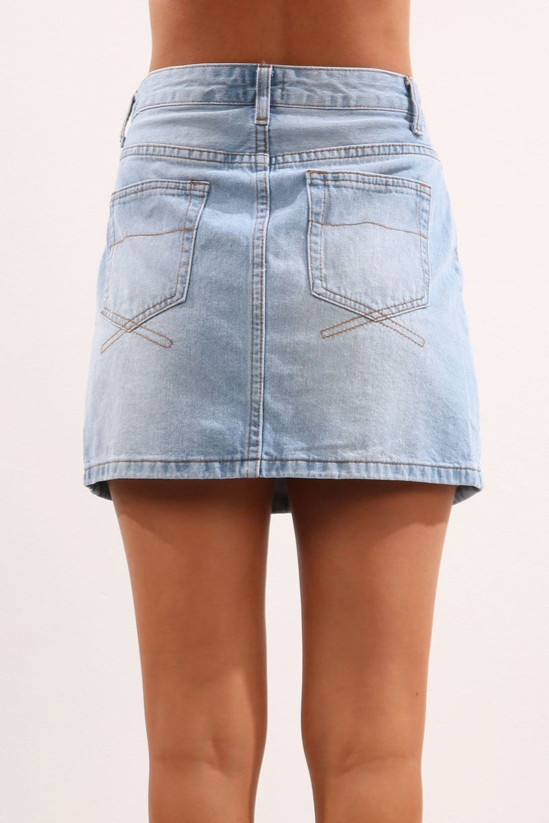 Nadal Skirt Blue Jean Jail - Jean Jail