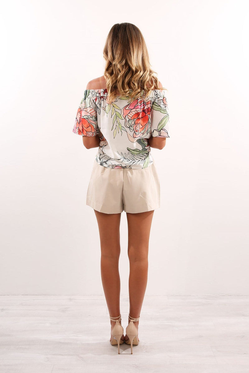 Nellie Top White Floral Jean Jail - Jean Jail