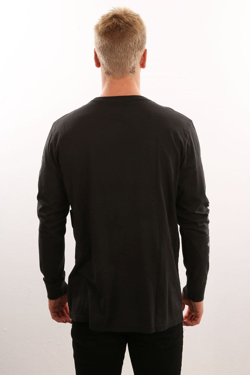 Long Sleeve Cuff Tee Black Kustom - Jean Jail