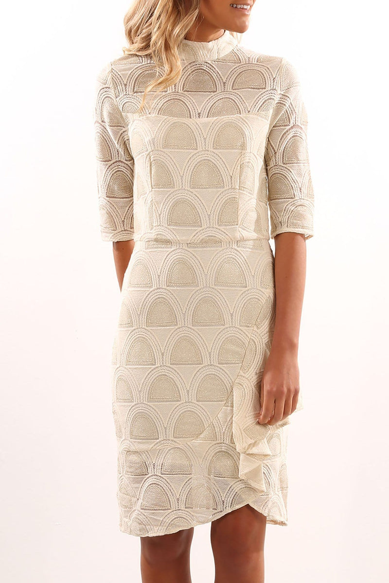 Believer Dress Ivory Gold