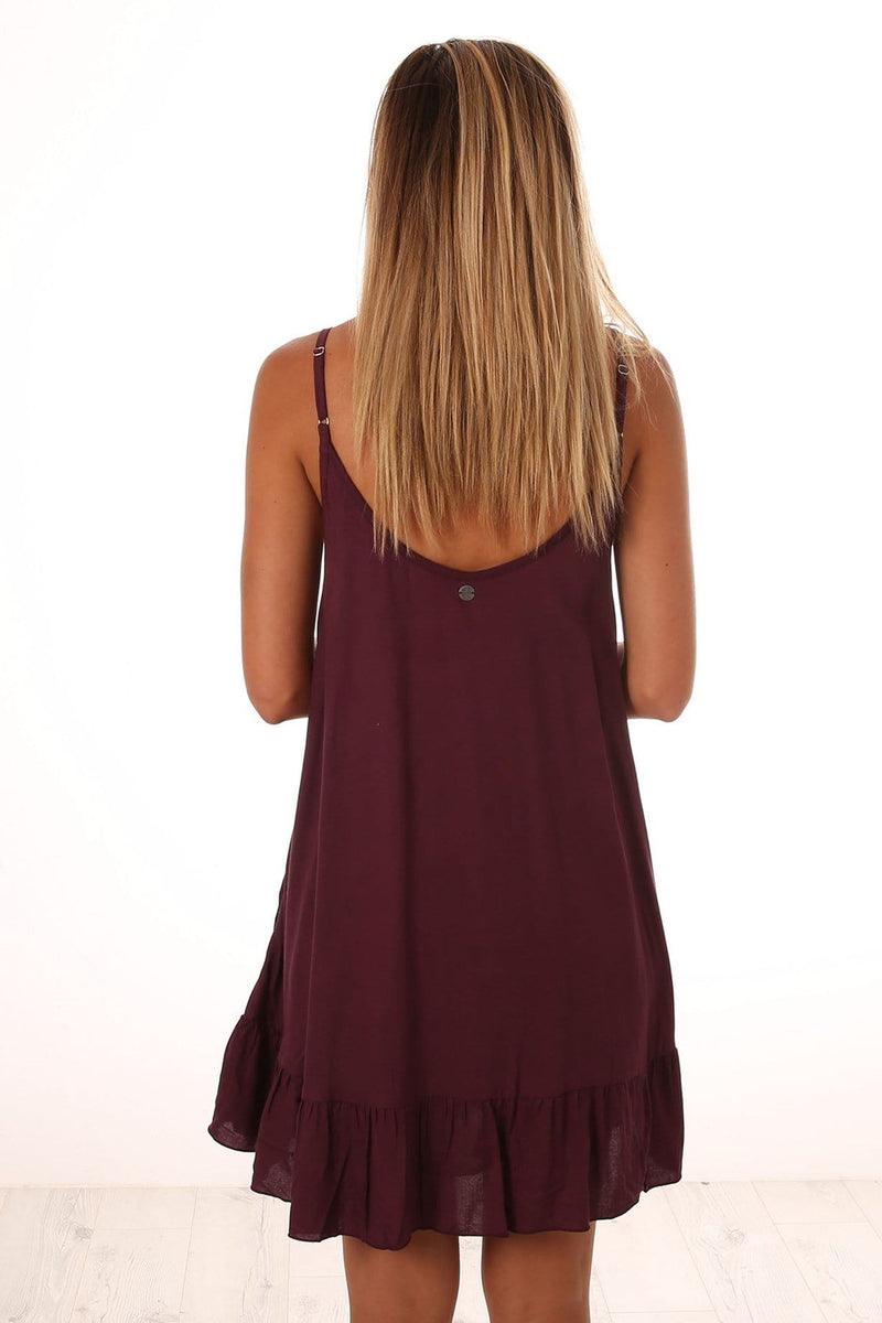 Sehara Dress Plum All About Eve - Jean Jail