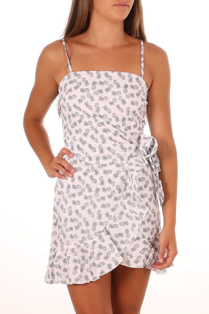 Juicy Tropics Dress White Jean Jail - Jean Jail