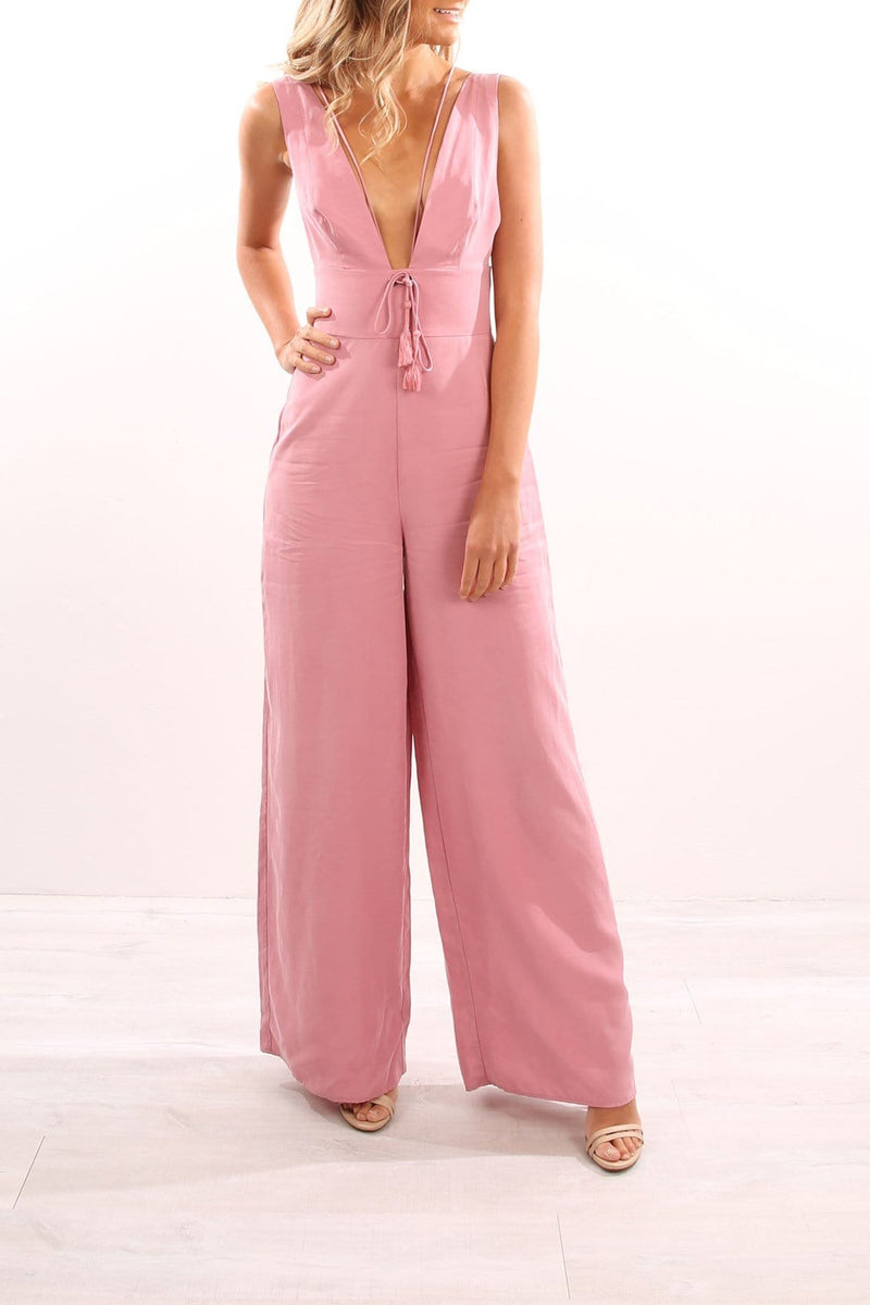 Addison Jumpsuit Rose Finders Keepers - Jean Jail