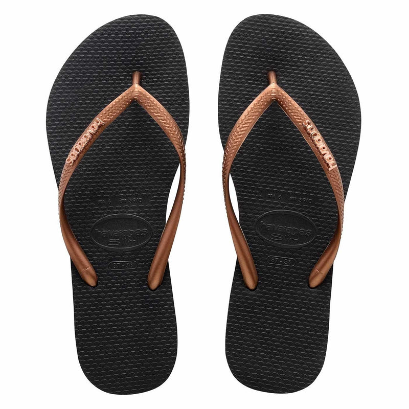 Slim Metal Logo Black // Copper Gold Female Havaianas - Jean Jail
