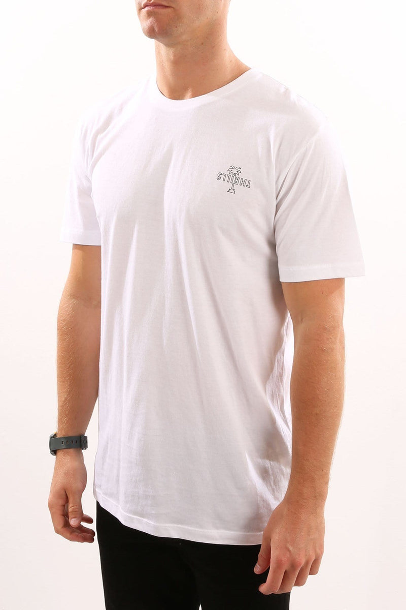 Outline Palm Tee White Thrills - Jean Jail