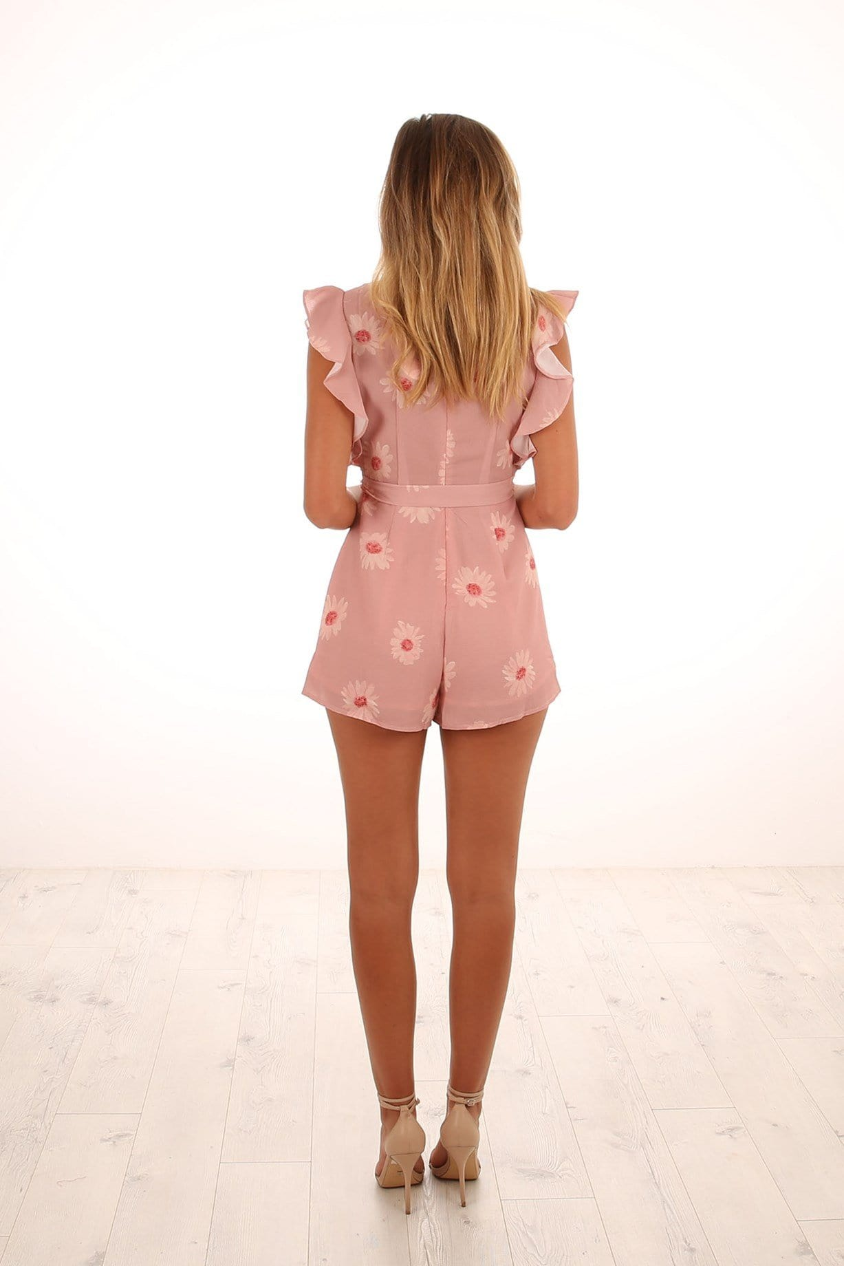 Come Find Me Playsuit Peach