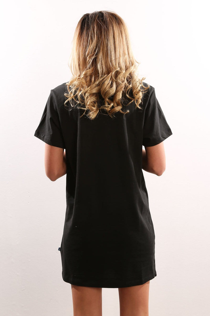 Trefoil Tee Dress Black adidas - Jean Jail