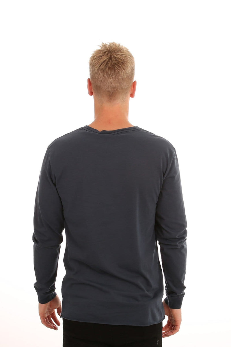 Everyday Wash Long Sleeve T-Shirt Dusted Navy Rhythm - Jean Jail