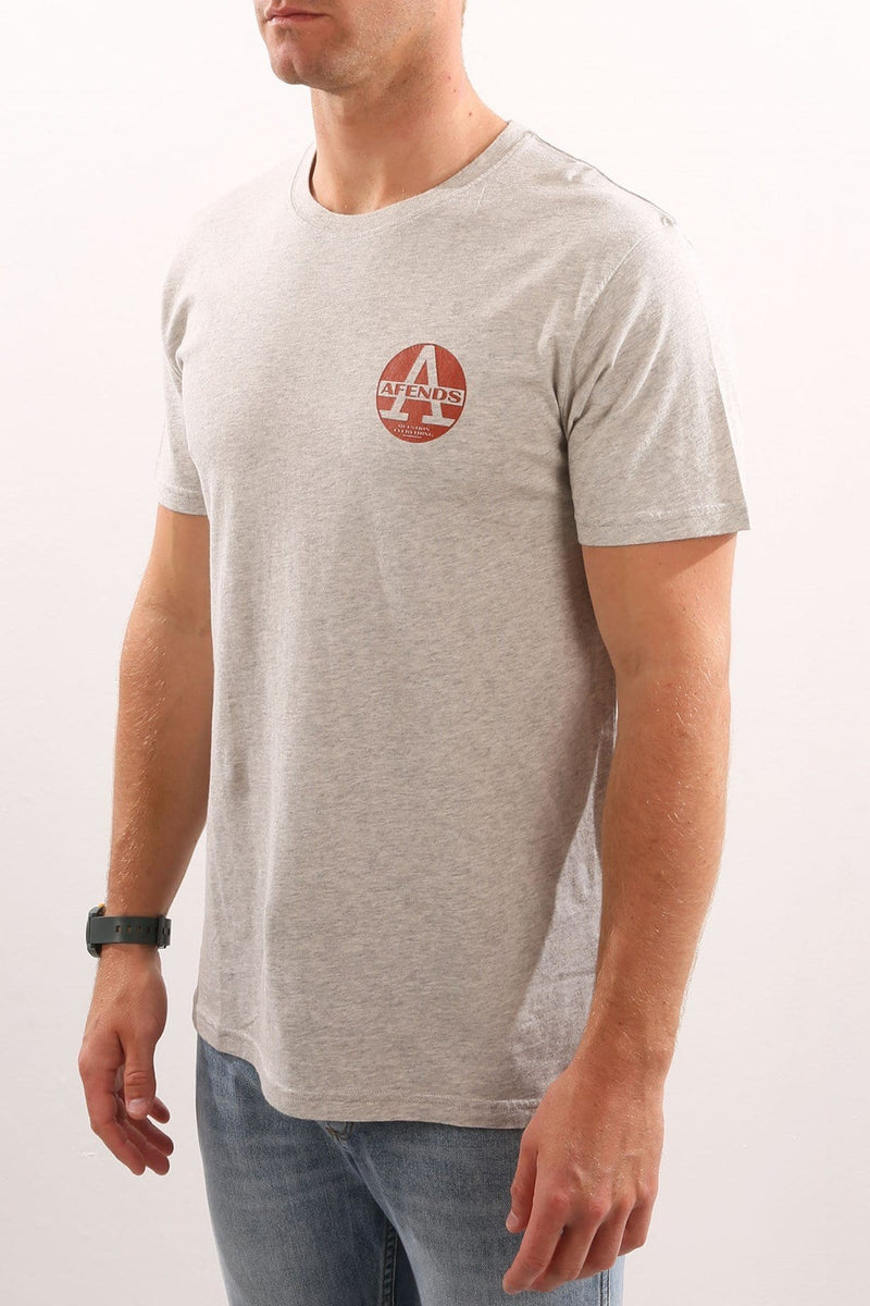 Lids Standard Fit Tee Grey Marle Afends - Jean Jail
