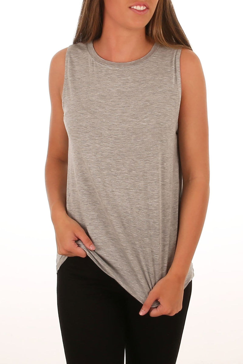 Capri Tank Silver Marle Betty Basics - Jean Jail