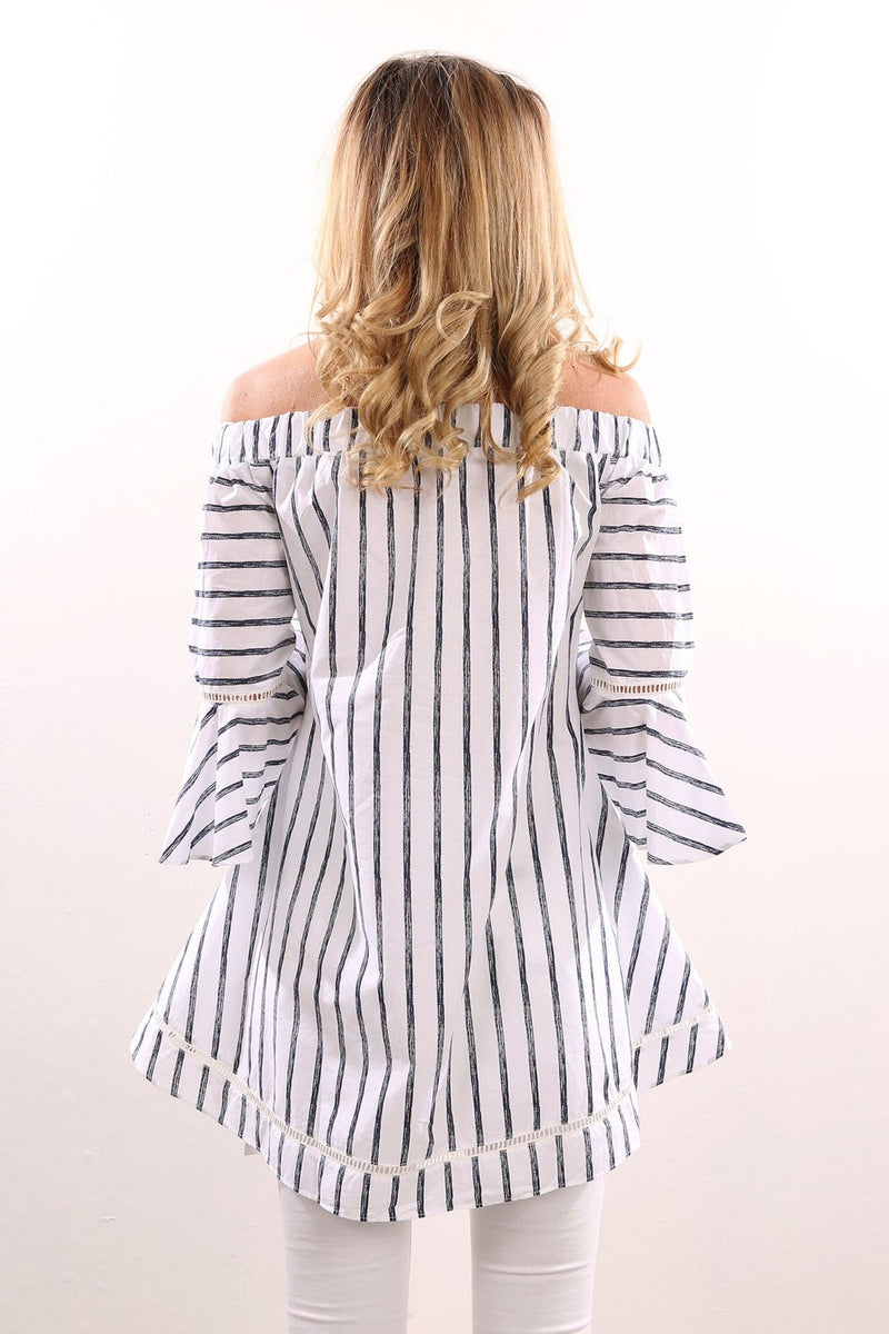Two Seconds Top White Stripe Jean Jail - Jean Jail