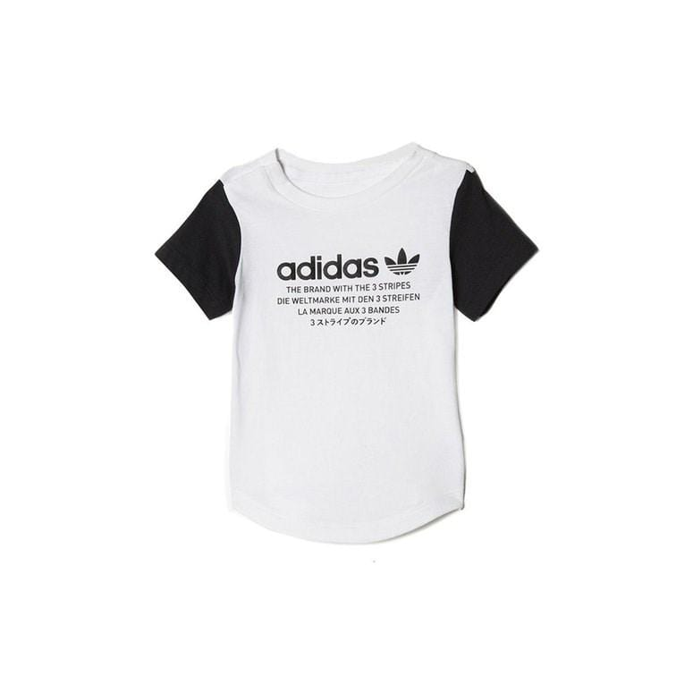 Infants Originals Long Tee White adidas - Jean Jail