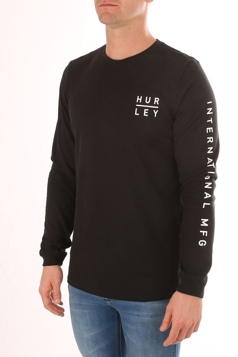 Tide Change Dri-Fit Long Sleeve T-Shirt Black Hurley - Jean Jail