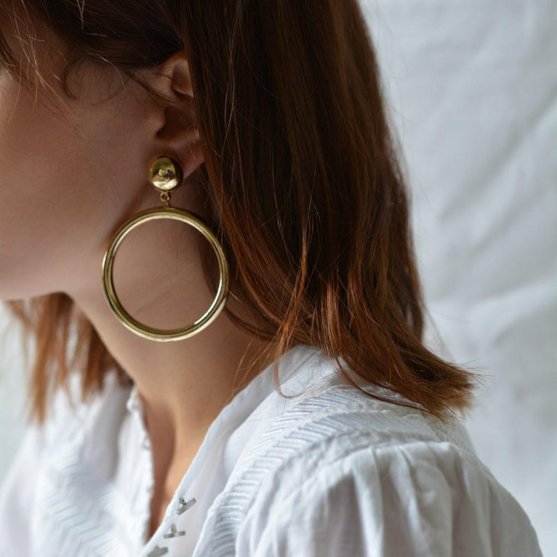 Rosie Earrings Gold Jolie & Deen - Jean Jail