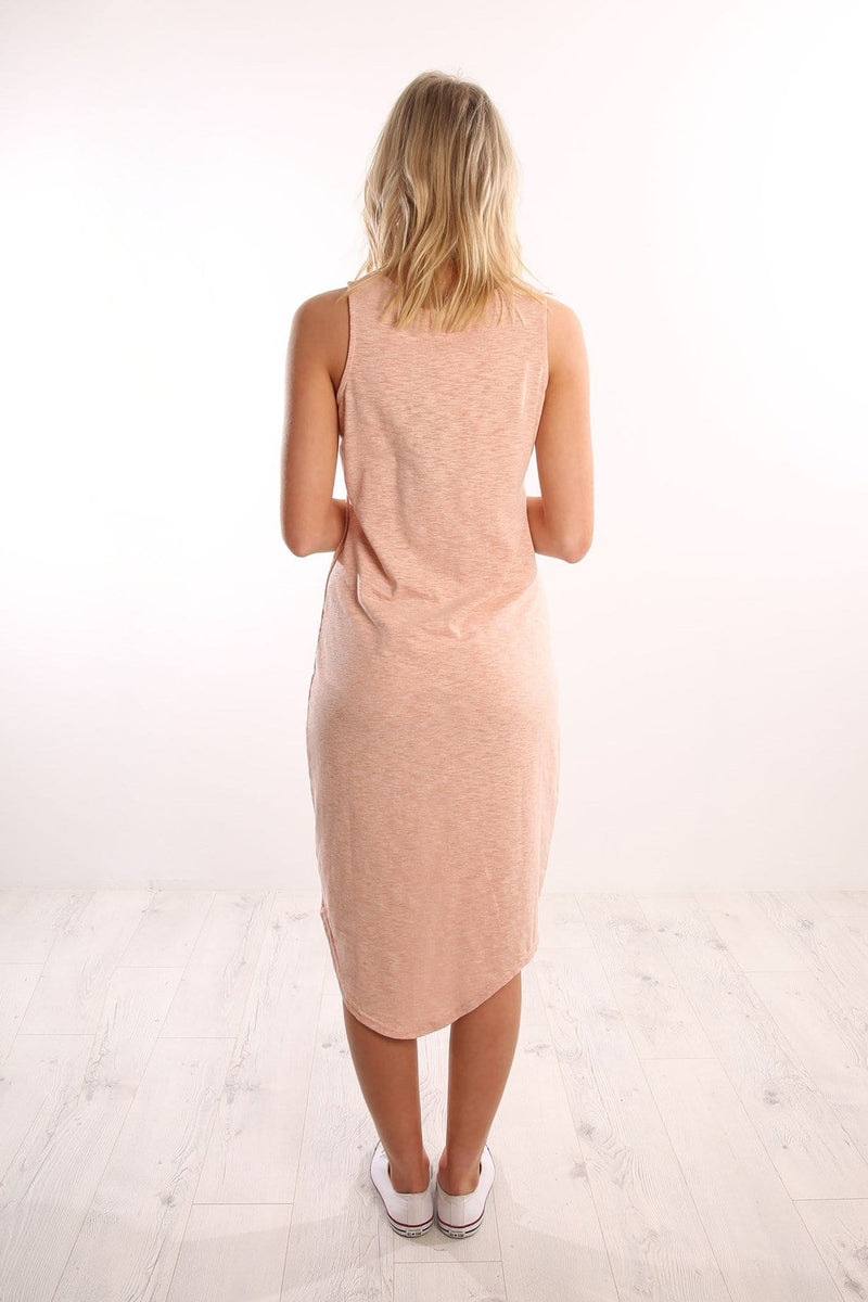 Annapurna Midi Dress Peach Marle Silent Theory - Jean Jail