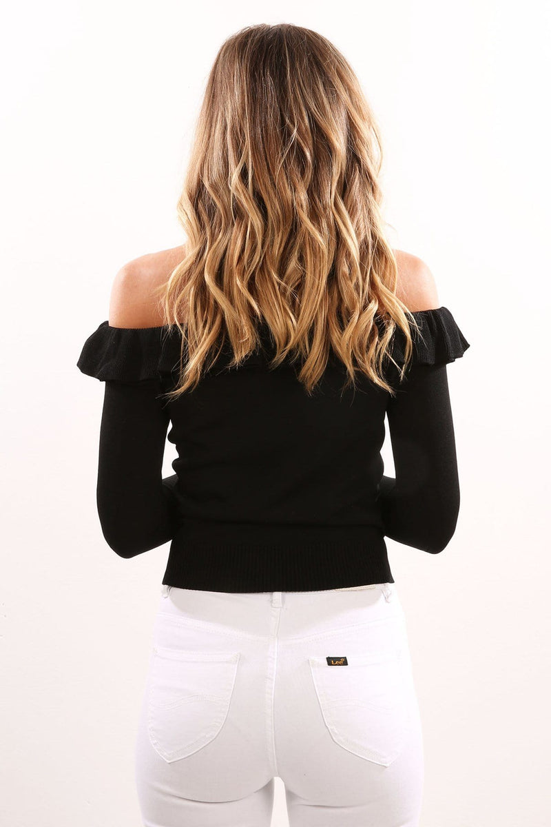 Fiesta Knit Top Black Jean Jail - Jean Jail