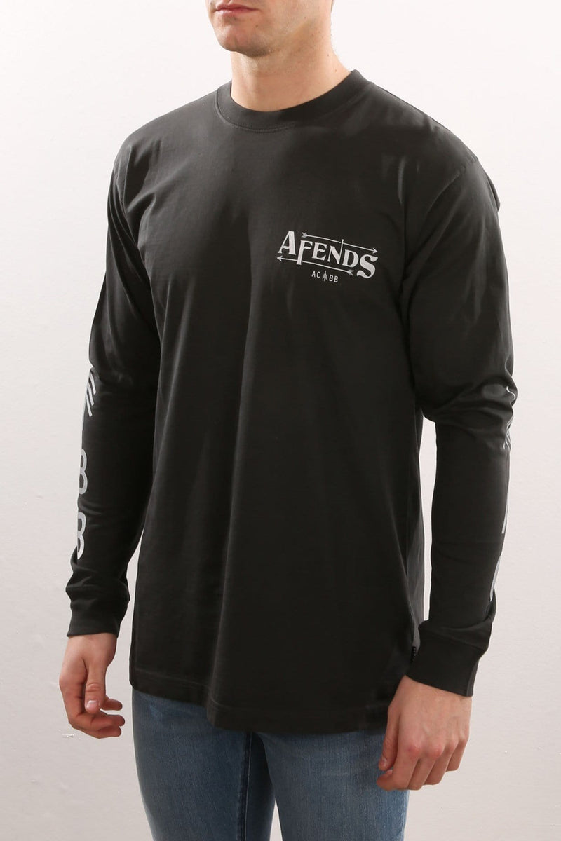 Again Vintage Long Sleeve Tee Faded Black Afends - Jean Jail