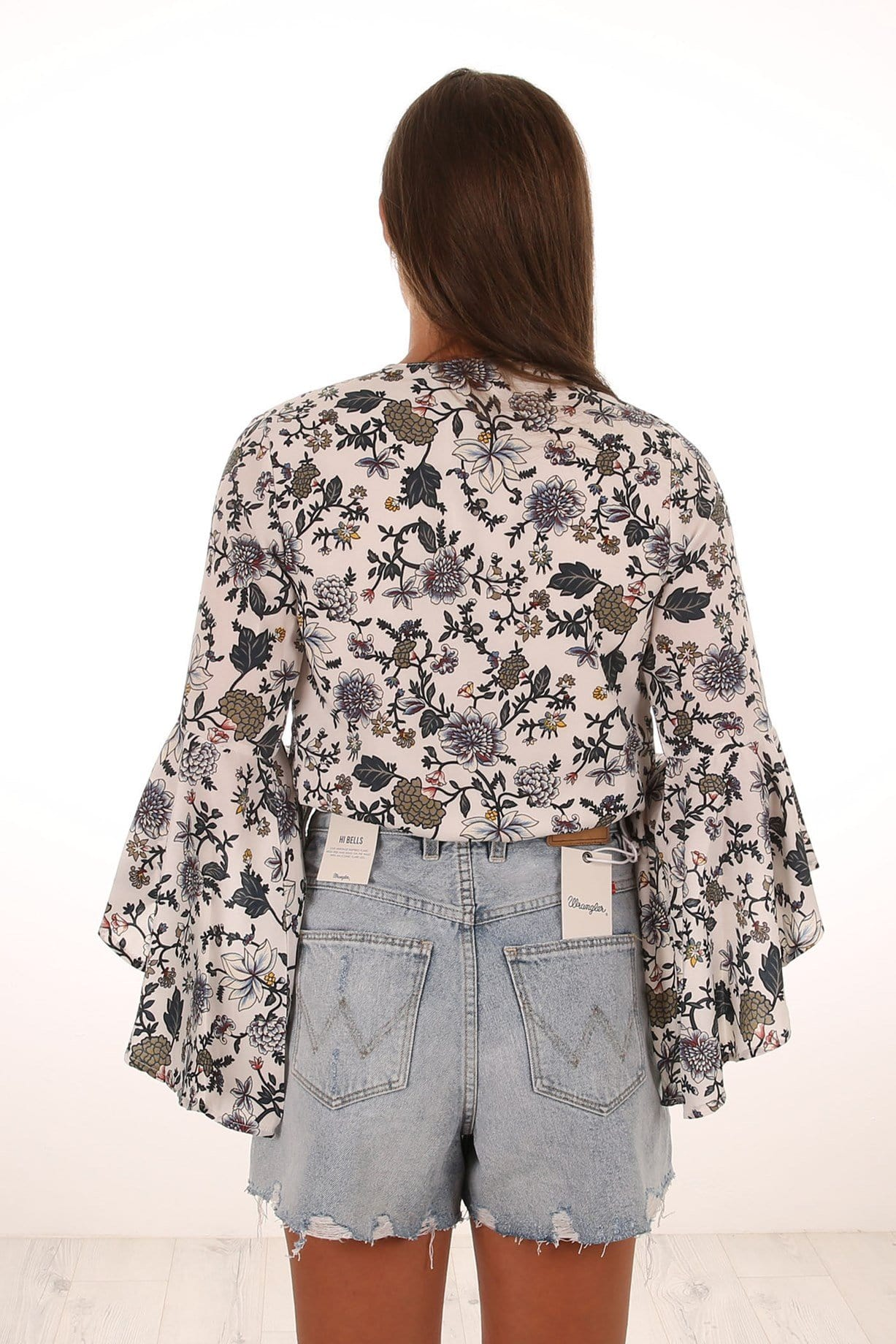 Aster Wrap Top Floral