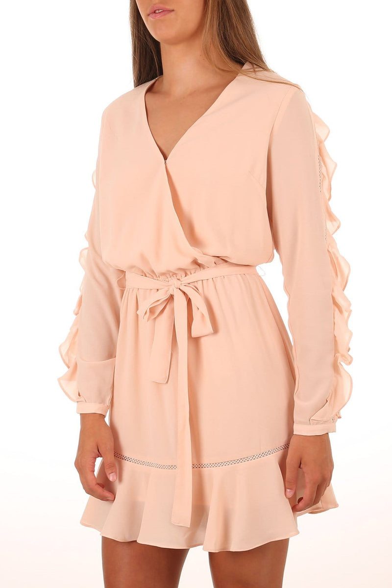 Ruffle Sleeve Dress Blush Fresh Soul - Jean Jail