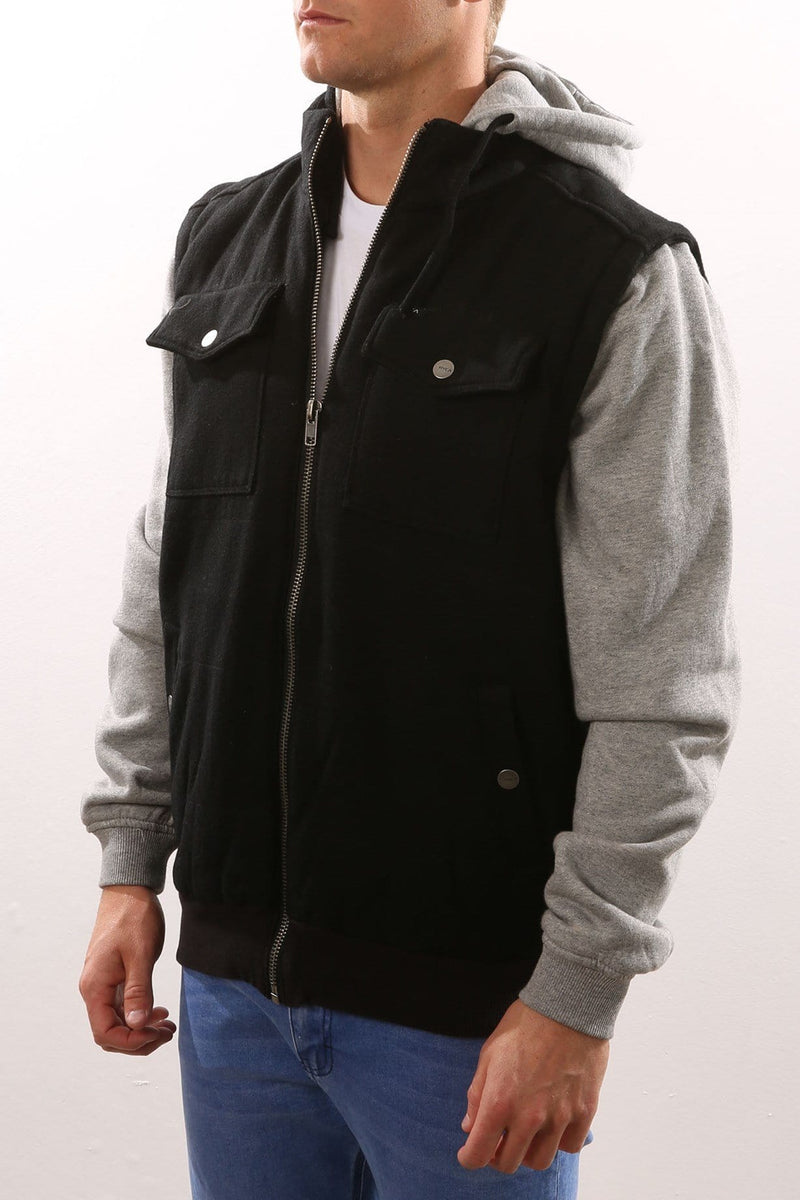 Puff Puff Premium Jacket Black Smoke Tiger RVCA - Jean Jail