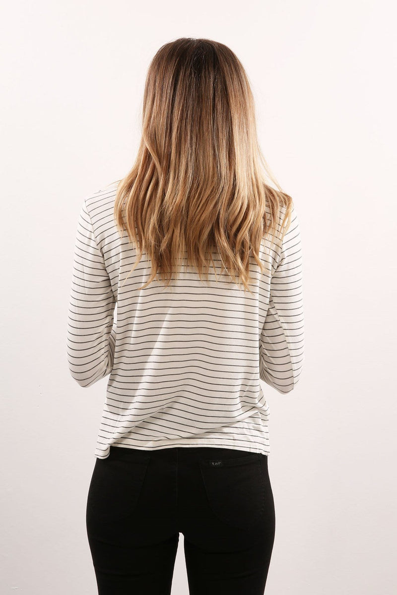 Salt Long Sleeve Tee Slate Stripe Afends - Jean Jail