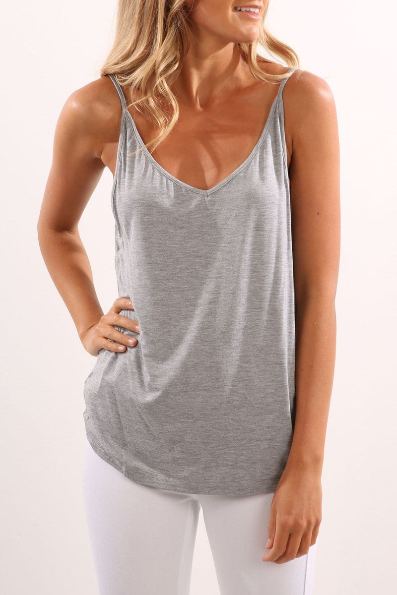 From This Moment Singlet Grey Marle The Fifth Label - Jean Jail
