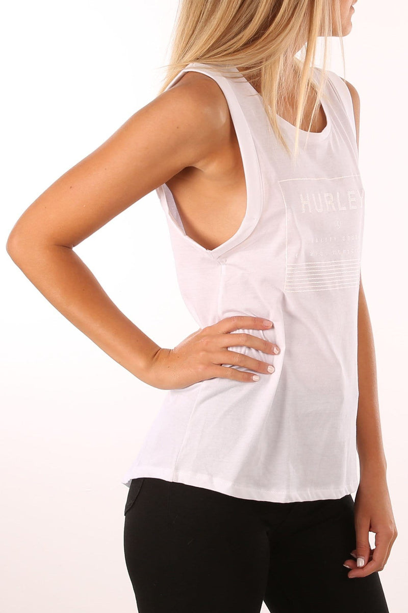 Feature Grace Singlet White Hurley - Jean Jail