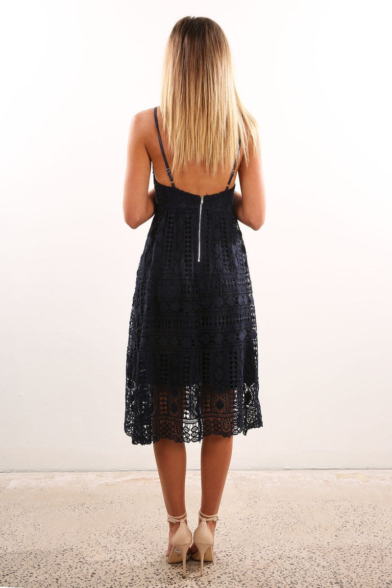 Wait For It Dress Navy Jean Jail - Jean Jail